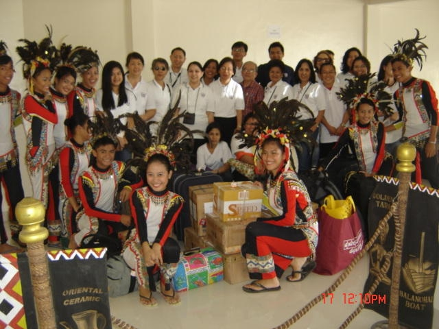 Butuan Airport with Native Dance troop