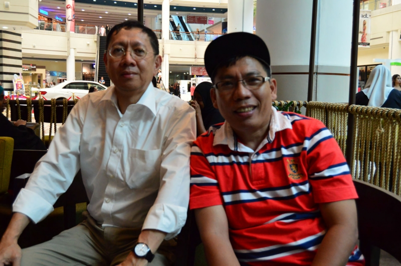 Dr. Sta. Romana and Abu Dhabi Coordinator Brother Alfonso De Leon