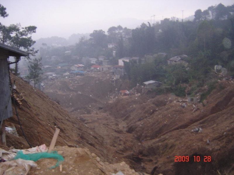 Baguio La Trinidad Benguet,Houses Buried under the Mudslides