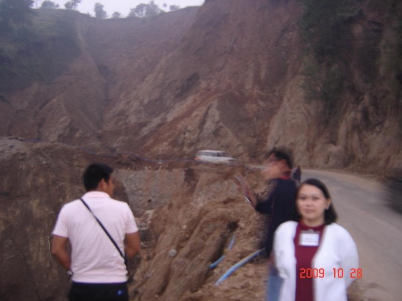 Site of Baguio La Trinidad Mudslide & Dr Amy Sta. Romana