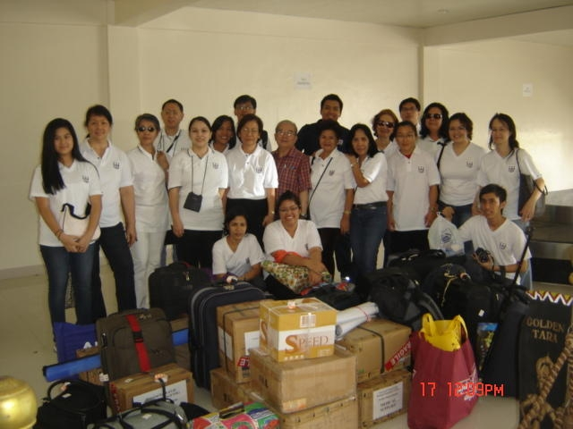 Arrival UTOL Medical Team Butuan City Airport