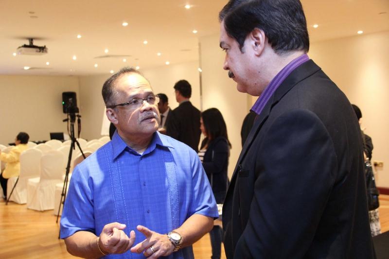 Pastor Bengie Masiglat FCC Senior Pastor and Peter Kairuz President of CBN Asia 700 Club